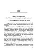 Nielsen M. K. EU-Russian Relations: Vision for the future.